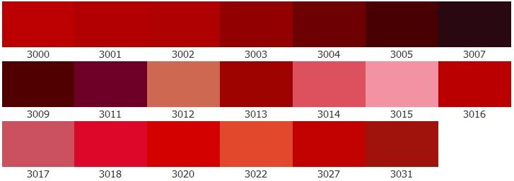 Цвет ral красный